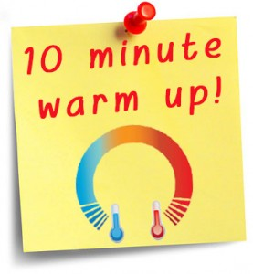 10 minute warm up Workout