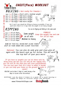Chest Workout sheet