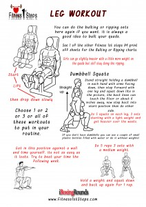 leg workout sheet