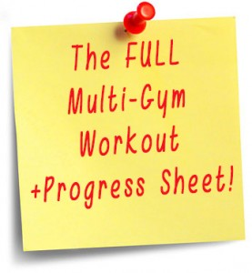 the full multi gym Workout