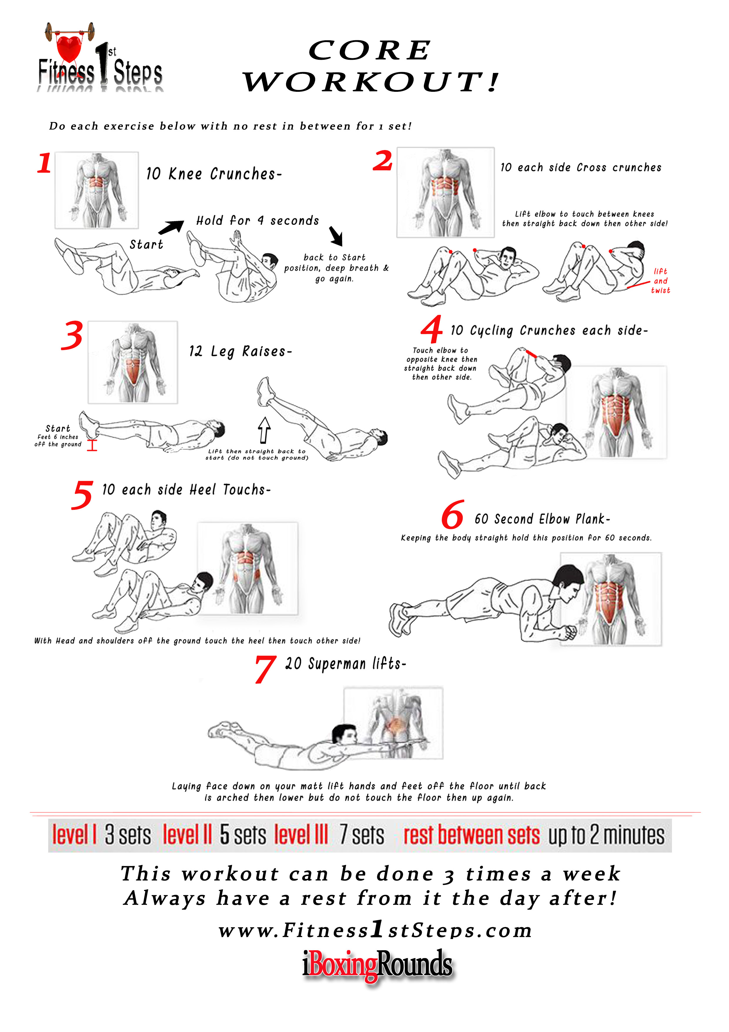 Core Can Be Done Every Other Day Some Say But With This Routine I Would Rather You Do It 3 Times A Week Max