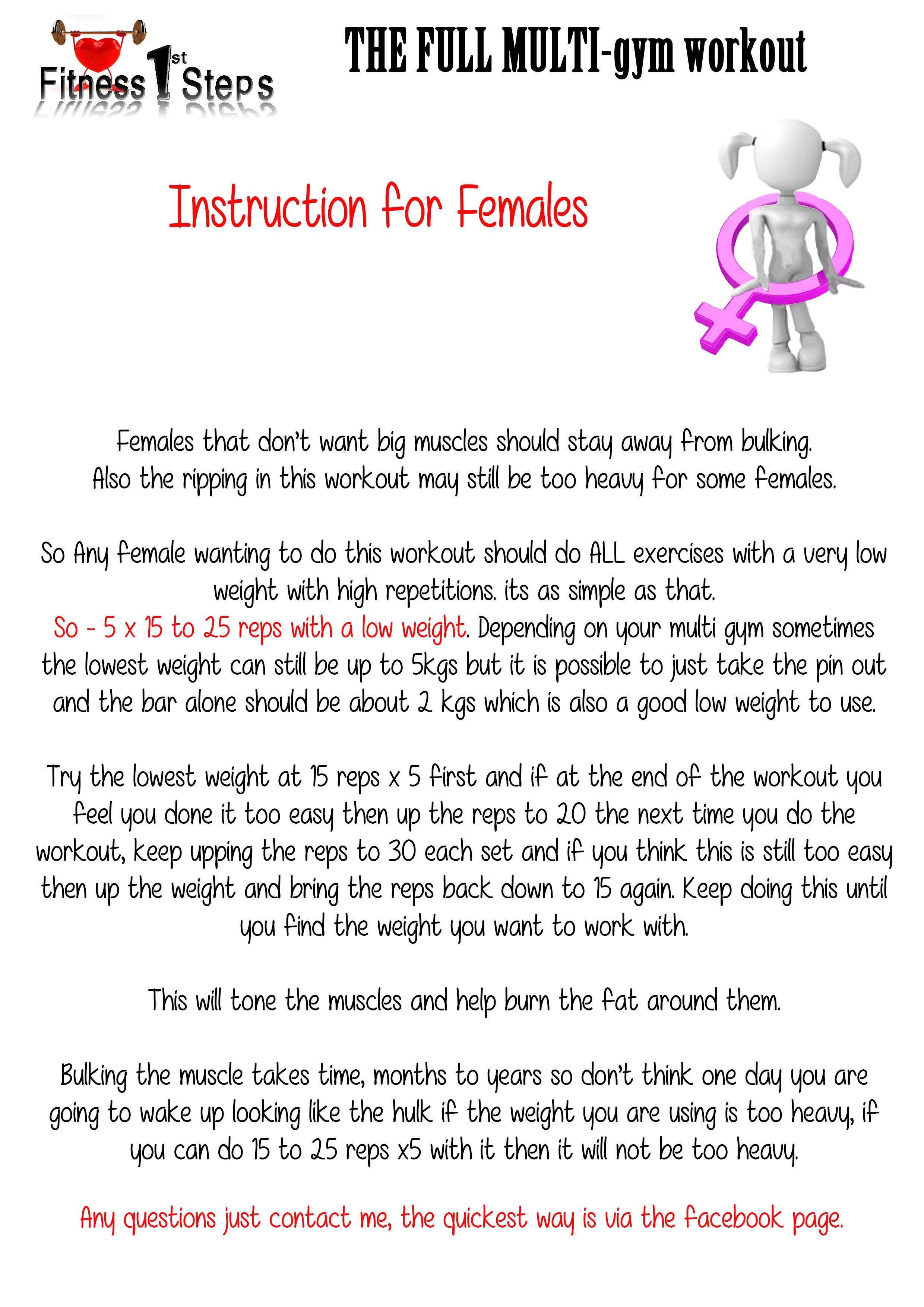 multi gym workout